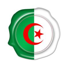 algeria button, blank flag, seal, stamp