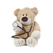 Leinwandbild Motiv Doctor Teddy Bear