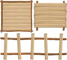 Pannelli e Cornici di Legno-Wood Panels and Frames-Vector