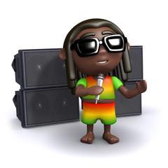 Rasta sings to Jah