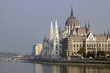 Parliament building along the Danube, Budapest, Hungary