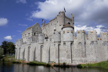Castle Gravensteen in Ghent Belgium