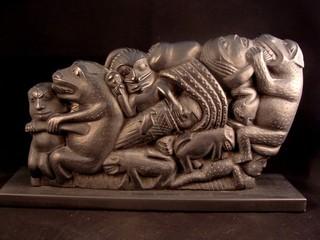 Alaska Bear Clan Wood Carving
