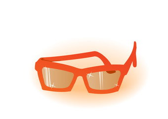 Vector illustration orange glasses