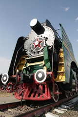 Old Russian locomotive
