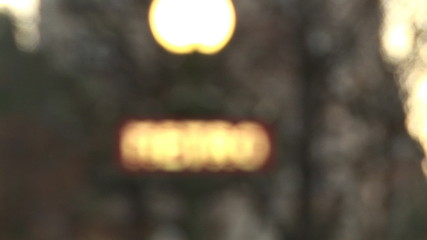 blurred metro sign in paris