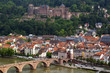Aerial view of old town and castle in Heidelberg, Germany