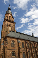 Heiliggeistkirche in the town of Heidelberg, Germany
