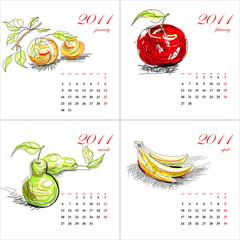 Fruit calendar for 2011