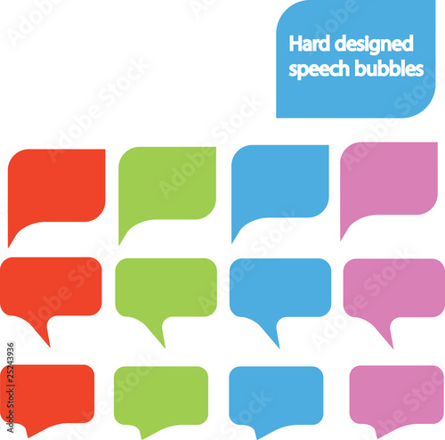 Hard designed speech bubbles 4