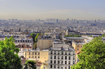 Aerial panoramic view of Paris (France)