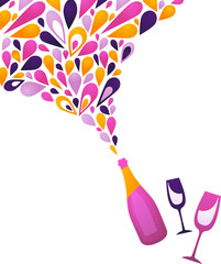 Funky wine background - 3