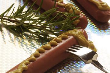 Wurstel con senape