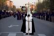 Procesión de nazarenos en Semana Santa