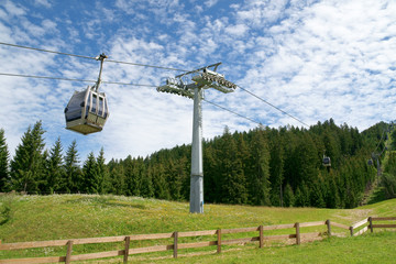 Cable car on cableway