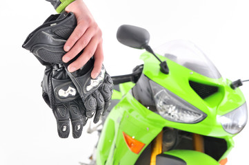 motorcyclist gloves