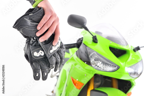 motorcyclist gloves