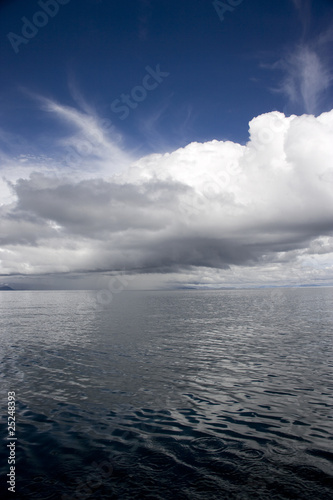 view of Titicaca Lake, South America.