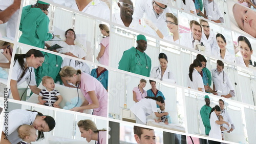 Collage of Medical Footage