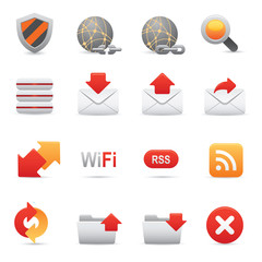 Website & Internet Icons Set | Red Series 03