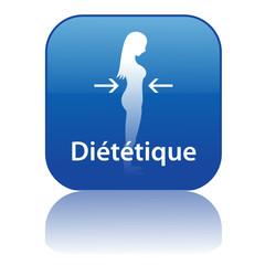 Bouton Web DIETETIQUE (forme santé poids minceur régime femme)