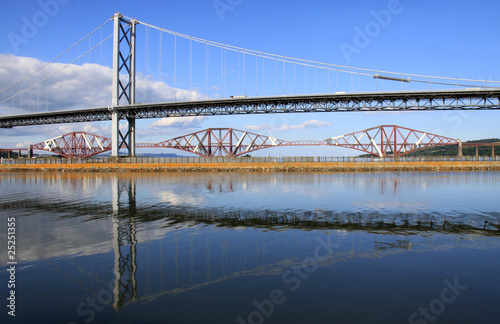 Forth Road and Rail Bridges, Queensferry, Scotland
