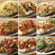 Collage of Asian food dishes