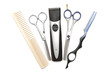 Hairdressing industry. Professional hairdressing tools. Comb, sc