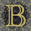 letra b decorada