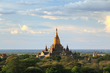 Sunset at Ananda Temple, Bagan, Myanmar