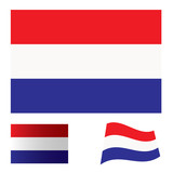Netherlands flag set