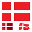 Denmark flag set