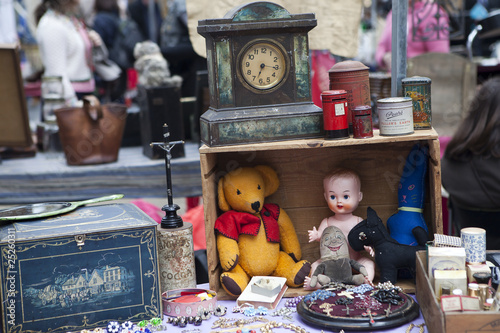 doll and toy on street market in London