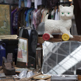 collectables or stage props for sale on London street market