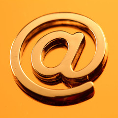 e-mail - metal alphabet symbol