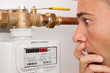 Leinwanddruck Bild - Gaspreis-Erhöhung