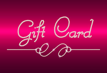 """brilliant """"Gift card"""" with small diamond tracery"""