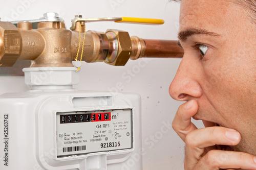 Leinwanddruck Bild Gaspreis-Erhöhung