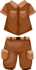 Camping Shorts with shirt