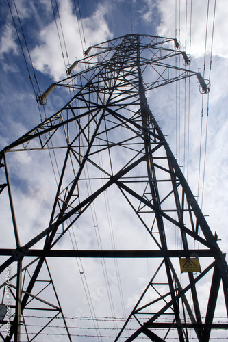 Vertical view of a power pylon
