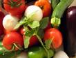 Légumes pour la ratatouille provençale