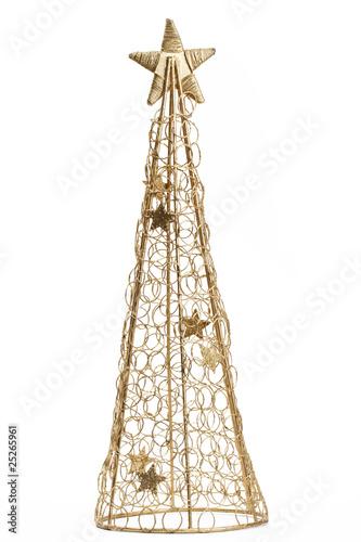 goldener metall weihnachtsbaum von rob stark lizenzfreies. Black Bedroom Furniture Sets. Home Design Ideas