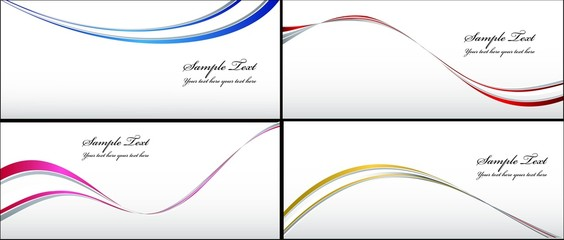 a set of vector wave  backgrounds