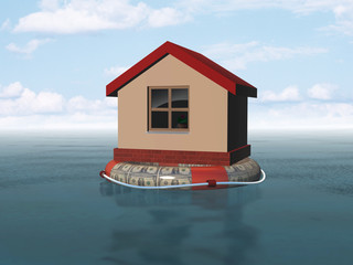 house on life buoy