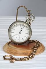 vintage pocketwatch on stand