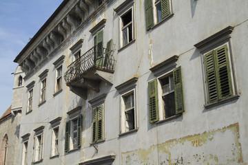 Alte Hausfassade in Meran