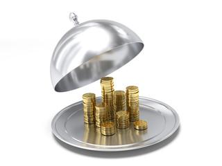 Un piatto pieno di soldi
