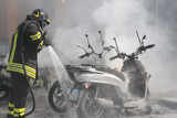 motorini in fiamme
