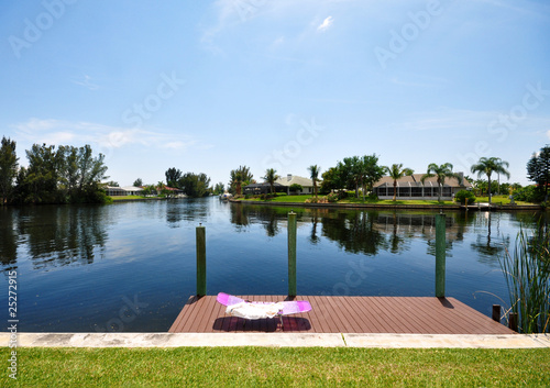 Foto op Canvas Kanaal Liege am Kanal Florida Cape Coral