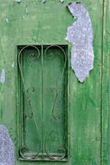 Peeling paint on a typical metallic door, Valletta, Malta